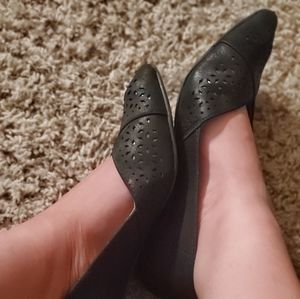 Used Pointed Flats Work Shoes